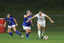 04 November 2016:  Kiley Czerwniski(3) during an NCAA Missouri Valley Conference (MVC) Championship series women's semi-final soccer game between the Indiana State Sycamores and the Illinois State Redbirds on Adelaide Street Field in Normal IL