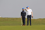 Matthew O'Brien (Blackrock College) on the 9th green during the final of the Irish Schools Senior Championship at Portstewart Golf Club, Portstewart, Co Antrim on Tuesday 23rd April 2019.<br /> <br /> Picture:  Thos Caffrey / www.golffile.ie<br /> <br /> All photos usage must carry mandatory copyright credit       (© Golffile | Thos Caffrey)