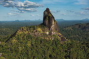 Bottle (battle) Mountain<br /> Granite Outcrop<br /> Savanna <br /> South Rupununi<br /> GUYANA<br /> South America