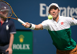 September 5, 2018 - Flushing Meadows, New York, U.S - Kei Nishikori during his match against Marin Cilic on Day 10 of the 2018 US Open at USTA Billie Jean King National Tennis Center on Wednesday September 5, 2018 in the Flushing neighborhood of the Queens borough of New York City. (Credit Image: © Prensa Internacional via ZUMA Wire)
