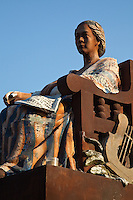 Statue of Leona Florentino first poetess of the Philippines in the plaza at Vigan, Illocos Sur.  At the age of ten Leona could write poetry in Ilokano and Spanish.  Later she could not enter any university because higher education was closed to all women during the Spanish colonial regime.