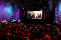 General view of the screening of the BBC's documentary 'Mind over Marathon' at Old Broadcasting House in London.