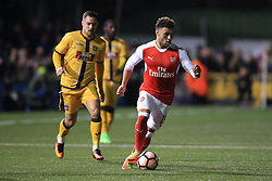 20 February 2017 - The FA Cup - (5th Round) - Sutton United v Arsenal - Alex Oxlade-Chamberlain of Arsenal in action with - Photo: Marc Atkins / Offside.