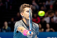 Dominic Thiem of Austria in action during the Nitto ATP World Tour Finals at the O2 Arena, London, United Kingdom on 13 November 2018.Photo by Martin Cole