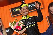 Podium Johan Esteban Chaves (COL - Mitchelton - Scott) winner celebration during the 101th Tour of Italy, Giro d'Italia 2018, stage 6, Caltanissetta - Etna 163 km on May 10, 2018 in Italy - Photo Luca Bettini / BettiniPhoto / ProSportsImages / DPPI