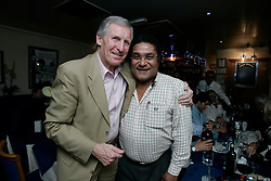Billy McNeil with Eusebio at Giotto's, Clarkston.<br /> ©2007 Michael Schofield. All Rights Reserved.