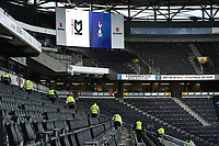 Football - 2021 / 2022 Season - Friendly - MK Dons vs Tottenham Hotspur - Stadium mk<br /> <br /> Stewards checking the seating area before the fans arrive.<br /> <br /> COLORSPORT/Ashley Western