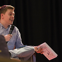 Owen Jones<br /> On stage at the Stoke Newington Literary Festival. 6 June 2015<br /> <br /> Picture by David X Green/Writer Pictures