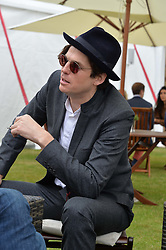 HUGO HEATHCOTE at the Cartier Queen's Cup Polo final at Guard's Polo Club, Smiths Lawn, Windsor Great Park, Egham, Surrey on 14th June 2015