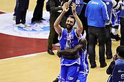 DESCRIZIONE : Milano Coppa Italia Final Eight 2014 Finale Montepaschi Siena Banco di Sardegna Sassari<br /> GIOCATORE : Manuel Vannuzzo<br /> CATEGORIA : post game esultanza mani<br /> SQUADRA : Banco di Sardegna Sassari<br /> EVENTO : Beko Coppa Italia Final Eight 2014 <br /> GARA : Montepaschi Siena Banco di Sardegna Sassari<br /> DATA : 09/02/2014 <br /> SPORT : Pallacanestro <br /> AUTORE : Agenzia Ciamillo-Castoria/N.Dalla Mura<br /> GALLERIA : Lega Basket Final Eight Coppa Italia 2014 <br /> FOTONOTIZIA : Milano Coppa Italia Final Eight 2014 Finale Montepaschi Siena Banco di Sardegna Sassari