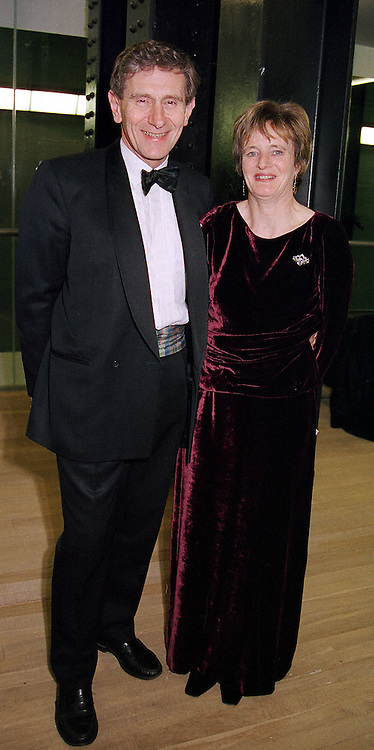 LORD & LADY STEVENSON OF CODDENHAM at a<br />  dinner in London on 3rd May 2000.ODH 73