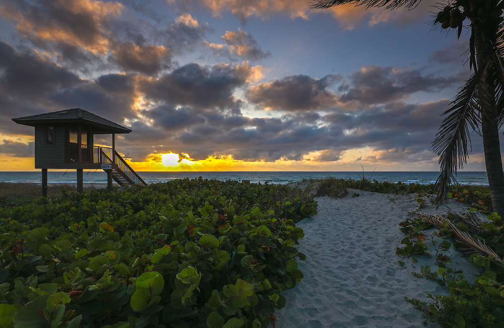 South Florida sunrise photography of a lifeguard tower on Delray Beach in Palm Beach County, FL. This Florida beach photography image is available as museum quality photography prints, canvas prints, acrylic prints or metal prints. Fine art prints may be framed and matted to the individual liking and decorating needs:<br /> <br /> https://juergen-roth.pixels.com/featured/delray-beach-lifeguard-tower-juergen-roth.html<br /> <br /> All Delray Beach lifeguard tower Florida photography pictures available for digital and print image licensing at www.RothGalleries.com. Please contact me direct with any questions or request.<br /> <br /> Good light and happy photo making!<br /> <br /> My best,<br /> <br /> Juergen<br /> Prints: http://www.rothgalleries.com<br /> Photo Blog: http://whereintheworldisjuergen.blogspot.com<br /> Twitter: @NatureFineArt<br /> Instagram: https://www.instagram.com/rothgalleries<br /> Facebook: https://www.facebook.com/naturefineart