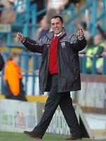 Fotball<br /> Foto: SBI/Digitalsport<br /> NORWAY ONLY<br /> <br /> Sheffield Wednesday v Brentford <br /> Coca Cola league one play off semi final, first round. 12/05/2005. <br /> <br /> Brentford boss Martin Allen in a happy mood