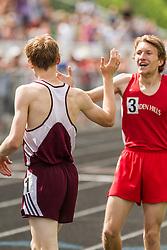 Maine State Track & Field Meet, Class B: boys 800 meters,  Dan Curts, Ben Trapani,