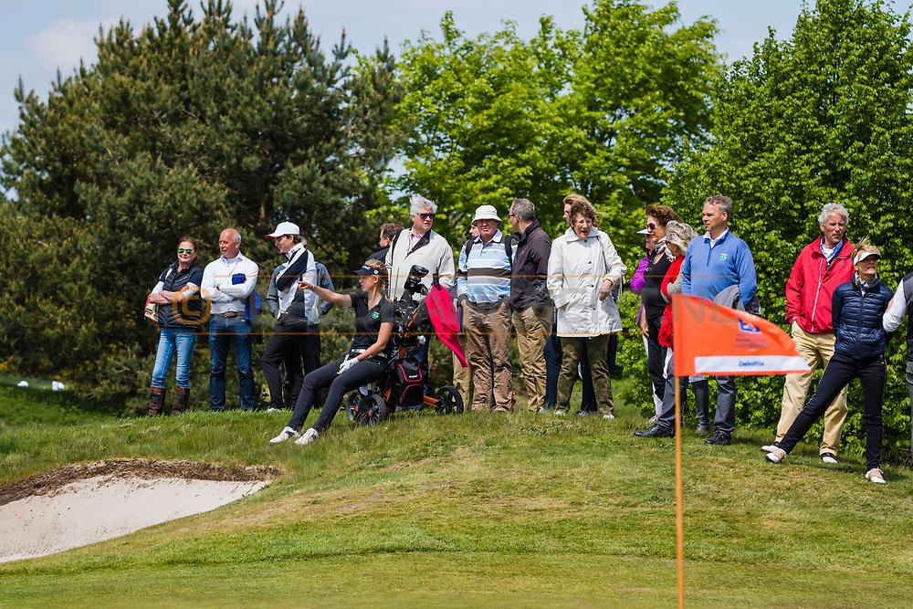 17-05-2015 NGF Competitie 2015, Hoofdklasse Heren - Dames Standaard - Finale, Golfsocieteit De Lage Vuursche, Den Dolder, Nederland. 17 mei. Dames Noordwijkse: Mayka Hoogeboom tijdens de singles.