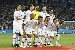 (Top Row L-R) Pepe of Portugal, William Carvalho of Portugal, Jose Fonte of Portugal, goalkeeper Rui Patricio of Portugal, Cristiano Ronaldo of Portugal, Goncali Guedes of Portugal <br /><br />(Front row L-R) Joao Mario of Portugal, Raphael Guerreiro of Portugal, Bernardo Silva of Portugal, Adrien Silva of Portugal, Ricardo of Portugal during the 2018 FIFA World Cup Russia round of 16 match between Uruguay and at the Fisht Stadium on June 30, 2018 in Sochi, Russia