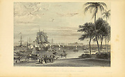 Calcutta, [Kolkata, West Bengal, India] From Garden-House Reach From the book ' The Oriental annual, or, Scenes in India ' by the Rev. Hobart Caunter Published by Edward Bull, London 1835 engravings from drawings by William Daniell