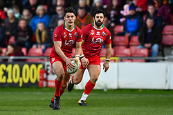 11th November 2018 , Racecourse Ground,  Wrexham, Wales ;  Rugby League World Cup Qualifier,Wales v Ireland ; Josh Ralph of Wales  in action<br /> <br /> <br /> Credit:   Craig Thomas/Replay Images