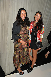 Left to right, SERENA REES and CORA CORRE at a party to celebrate the opening of the jeweller Ara Vartanian's Flagship Store 44 Bruton Place, London on 7th September 2016.