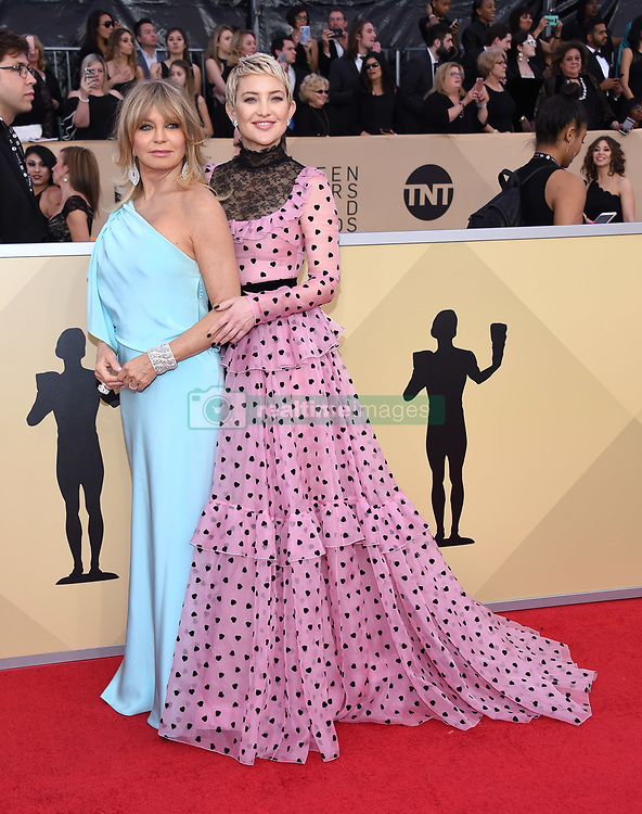 24th Annual Screen Actors Guild Awards held at the Shrine Exposition Center. 21 Jan 2018 Pictured: Goldie Hawn and Kate Hudson. Photo credit: OConnor-Arroyo / AFF-USA.com / MEGA TheMegaAgency.com +1 888 505 6342