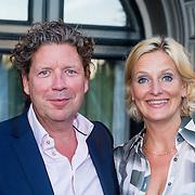 NLD/Amsterdam/20130903 - Inloop premiere Stiletto 2, Henk Jan Smits en partner Petra Morselt