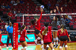 BLOOMINGTON, IL - September 28: Kaylee Martin<br />  during a college Women's volleyball match between the ISU Redbirds and the Southern Illinois Salukis on September 28 2019 at Illinois State University in Normal, IL. (Photo by Alan Look)