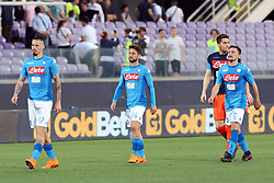 April 29, 2018 - Florence, Florence, Italy - 29th April 2018, Stadio Artemio Franchi, Florence, Italy; Serie A Football, Fiorentina versus Napoli; (L-R) Marek Hamsik, Dries Mertens, Rafael and Mario Rui of Napoli leave the pitch dejected after losing their match 3-0 against Fiorentina  Credit: Giampiero Sposito/Pacific Press (Credit Image: © Giampiero Sposito/Pacific Press via ZUMA Wire)