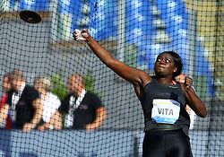 May 31, 2018 - Rome, Italy - Claudine Vita (GER) competes in discus throw women during Golden Gala Iaaf Diamond League Rome 2018 at Olimpico Stadium in Rome, Italy on May 31, 2018. (Credit Image: © Matteo Ciambelli/NurPhoto via ZUMA Press)