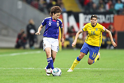 13.07.2011, Commerzbank Arena, Frankfurt, GER, FIFA Women Worldcup 2011, Halbfinale,  Japan (JPN) vs. Schweden (SWE), im Bild.Zweikampf zwischen Aya Miyama (Japan) (L) gegen Linda Forsberg (Schweden) (R).. // during the FIFA Women´s Worldcup 2011, Semifinal, Japan vs Sweden on 2011/07/13, Commerzbank Arena, Frankfurt, Germany.   EXPA Pictures © 2011, PhotoCredit: EXPA/ nph/  Mueller       ****** out of GER / CRO  / BEL ******