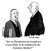 """""""Are we Europeanised enough yet, d'you think, to be admitted to the Common Market?"""""""
