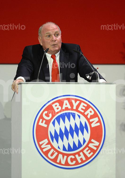 FUSSBALL   1. BUNDESLIGA  SAISON 2012/2013    Jahreshauptversammlung beim FC Bayern Muenchen   15.11.2012 Praesident Uli Hoeness