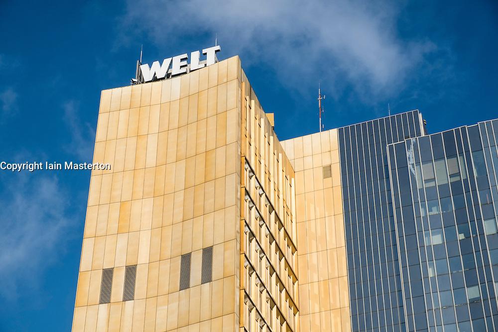 Offices of Die Welt newspaper in Berlin Germany