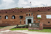 Fort Jefferson sign and flag