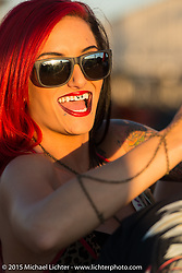 """The """"Flaunt Girls"""" perform at the Full Throttle Saloon during the 75th Annual Sturgis Black Hills Motorcycle Rally.  SD, USA.  August 1, 2015.  Photography ©2015 Michael Lichter."""