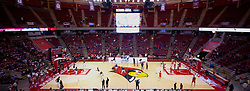 04 December 2016:   Stitched panoramic of 3 seperate images of Redbird Arena interior prior to an NCAA  mens basketball game between the New Mexico Lobos the Illinois State Redbirds in a non-conference game at Redbird Arena, Normal IL