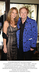 MR & MRS MIKE BATT he is the musician, at a reception in London on 11th March 2003.PHW 29