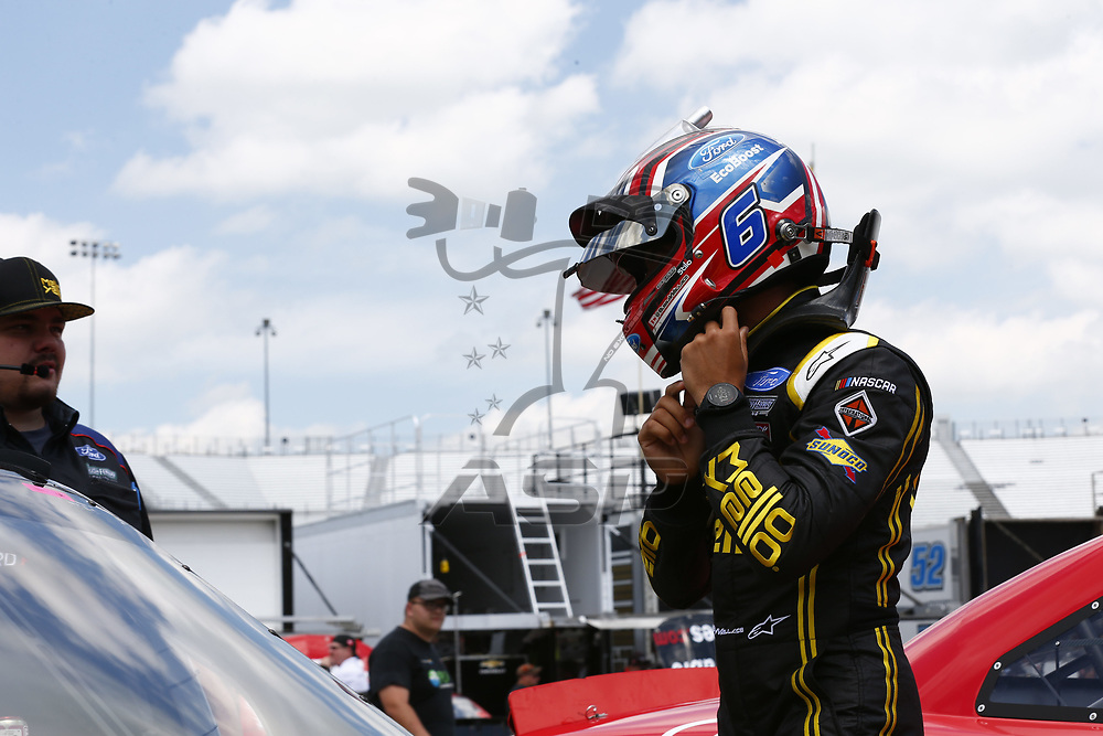 April 28, 2017 - Richmond, Virginia, USA: Darrell Wallace Jr (6) hangs out in the garage during practice for the ToyotaCare 250 at Richmond International Speedway in Richmond, Virginia.