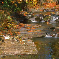 Old Mill Creek on a fall day in the Catskills Woodstock New York