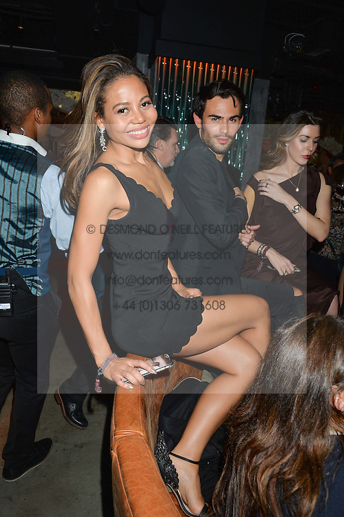 VISCOUNTESS WEYMOUTH and MARK-FRANCIS VANDELLI at the launch of MNKY HSE Restaurant, 10 Dover Street, London on 19th October 2016.
