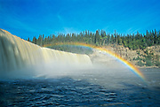 Kakisa River at Lady Evelyn Falls on the Waterfalls Route (Highway)  (Mackenzie Highway)<br />Lady Evelyn Falls Territorial Park<br />Northwest Territories<br />Canada<br />Lady Evelyn Falls Territorial Park<br />Northwest Territories<br />Canada