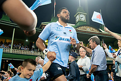 March 9, 2019 - Sydney, NSW, U.S. - SYDNEY, NSW - MARCH 09: Waratahs player Curtis Rona (11) runs on to the field at round 4 of Super Rugby between NSW Waratahs and Queensland Reds on March 09, 2019 at The Sydney Cricket Ground, NSW. (Photo by Speed Media/Icon Sportswire) (Credit Image: © Speed Media/Icon SMI via ZUMA Press)