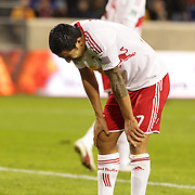 Tim Cahill, Red Bulls, after a missed chance by his side during the New York Red Bulls V D.C. United Major League Soccer, Eastern Conference Semi Final 2nd Leg match at Red Bull Arena, Harrison. New Jersey. USA. 8th November 2012. Photo Tim Clayton