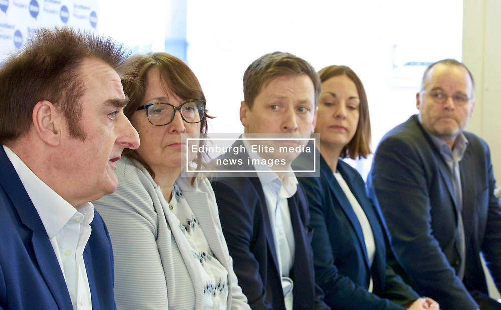 A cross-party group of parliamentarians gathered at the Scottish Poetry Centre in Edinburgh to push the case for a People's Vote. Left to right: Tommy Sheppard SNP MP; Christine Jardine, LibDem MP; John Edward, head of the European Parliament Office in Scotland; Kezia Dugdale Labour MSP; and Andy Wightman, Green MSP. Pic copyright Terry Murden @edinburghelitemedia