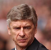 Photo. Javier Garcia<br />02/03/2003 Arsenal v Charlton, FA Barclaycard Premiership, Highbury<br />Arsene Wenger looked worried before the game