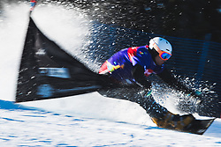 Radoslav Yankov (BUL) during parallel slalom FIS Snowboard Alpine World Championships 2021 on March 2nd 2021 on Rogla, Slovenia. Photo by Grega Valancic / Sportida