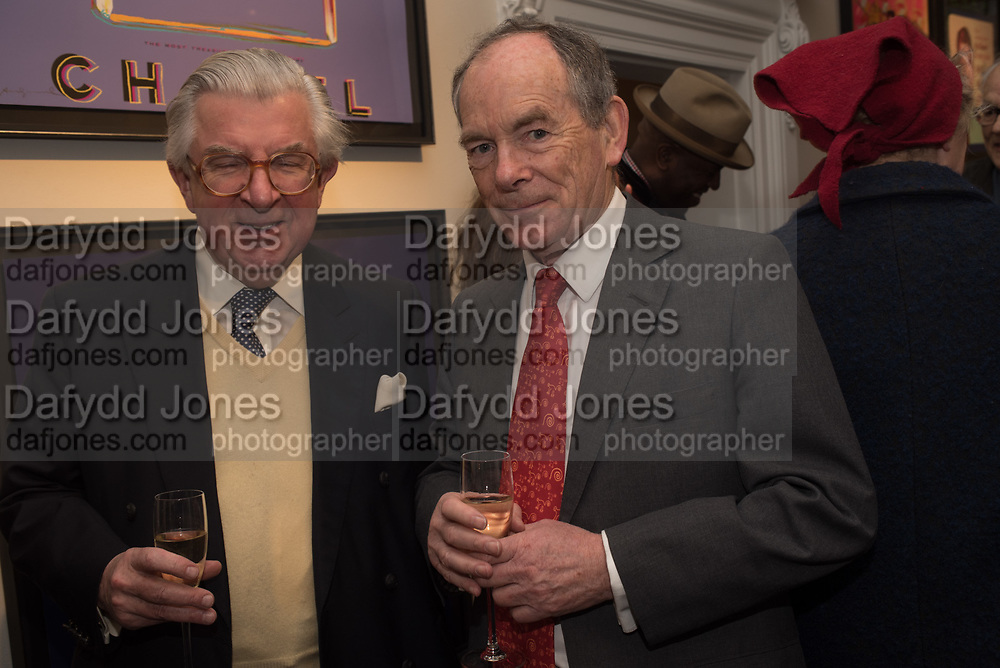 LORD MAGAN OF CASTLETOWN; SIMON JENKINS, The launch of The City of Westminster: A Celebration of People,  published by Quartet in collaboration with the Sir Simon Milton Foundation. Hosted by Robert Davis MBE and Naim Attallah CBE, Halcyon Gallery. London. 20 March 2017.