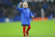 Terminally ill five-year-old Sunderland fan Bradley Lowery enjoys his day as an Everton mascot. Premier league match, Everton v Manchester City at Goodison Park in Liverpool, Merseyside on Sunday 15th January 2017.<br /> pic by Chris Stading, Andrew Orchard sports photography.
