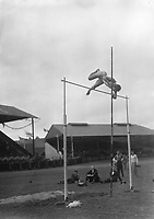 H2604<br /> Aonach Tailteann Athletics. Competitor in the Pole Vault.<br /> 1932  (Part of the Independent Newspapers Ireland/NLI Collection)