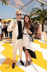 BEN HUDSON and HOLLY GRACE at the Veuve Clicquot Gold Cup, Cowdray Park, Midhurst, West Sussex on 21st July 2013.