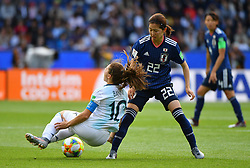 Schimuzi during the FIFA Women's World Cup group D first round soccer match between Argentina and Japan at Parc des Princes Stadium in Paris, France on June 10, 2019. The FIFA Women's World Cup France 2019 will take place in France from 7 June until 7 July 2019. Photo by Christian Liewig/ABACAPRESS.COM